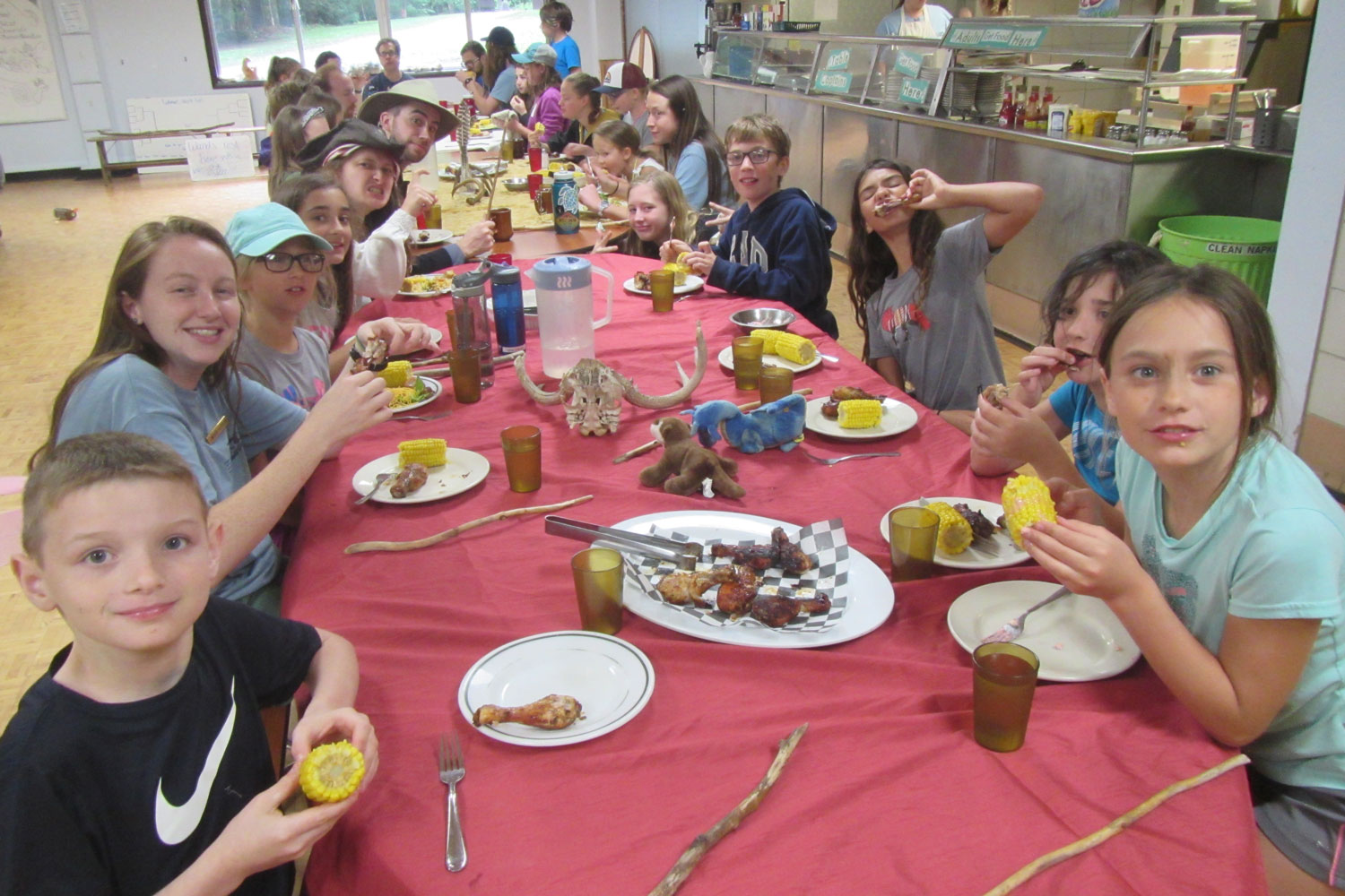 Tremont Institute students enjoy a meal in the Dining Hall