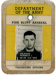 Herb Coleman's army ID