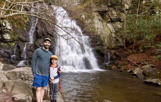 Wes Bunch and his son at Spruce Flats Falls