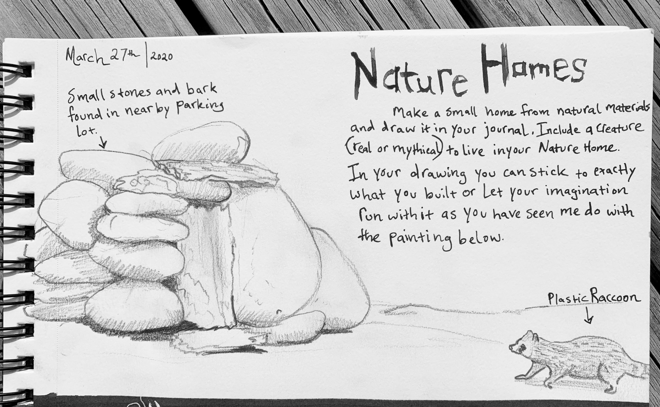 Nature Home nature journal page