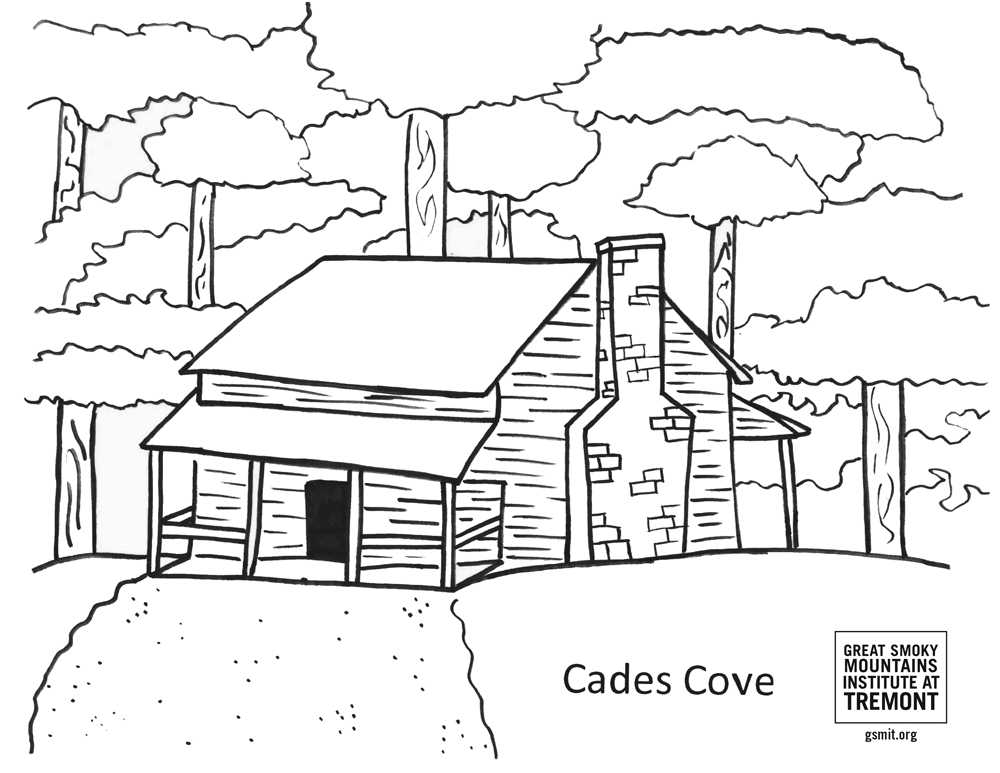 Cades Cove coloring page