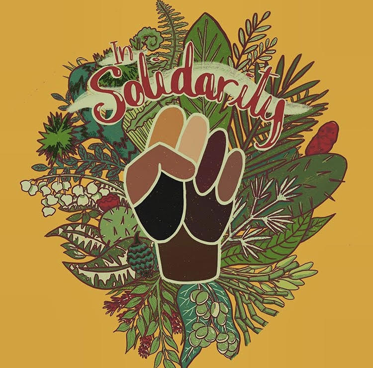 """In Solidarity"" art by Latasha Dunston - follow on Instagram @jitterbug_art"