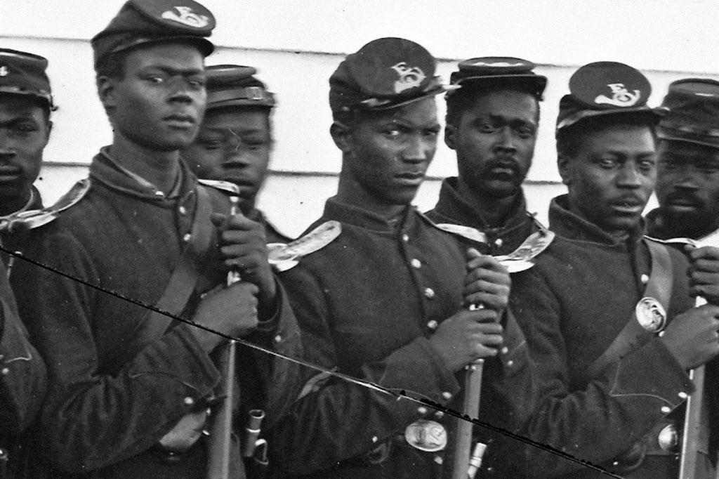 Black regiment during the civil war courtesy of the National Archives