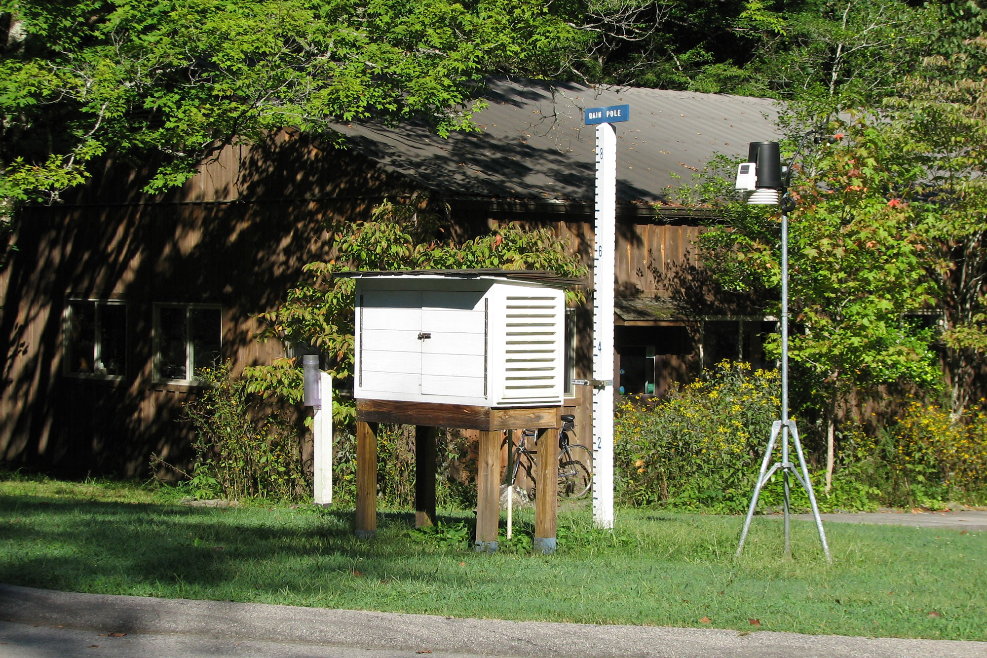 Weather station on Tremont's campus