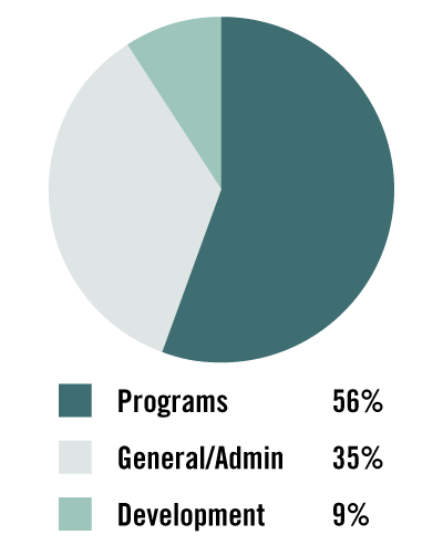 Pie graph showing Tremont's January-July 2020 Expenses