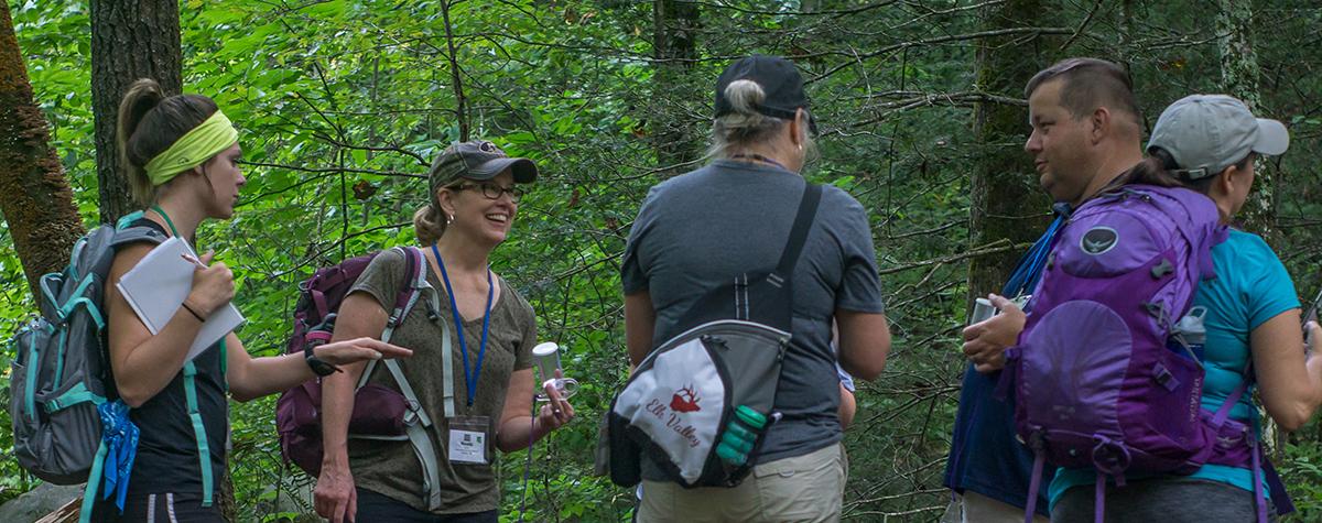 Teachers learn together at a Teacher Escape Workshop